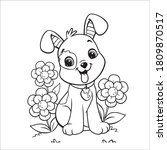puppy coloring pages dog... | Shutterstock .eps vector #1809870517