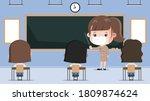 thai student back to school... | Shutterstock .eps vector #1809874624