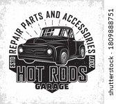 hot rod garage logo design ... | Shutterstock .eps vector #1809888751