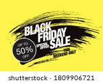 black friday sale poster layout ... | Shutterstock .eps vector #1809906721