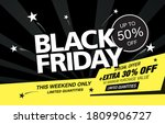 black friday sale poster layout ... | Shutterstock .eps vector #1809906727