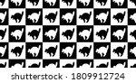 cat seamless pattern halloween... | Shutterstock .eps vector #1809912724