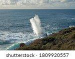 High Vertical Plume Of Sea...