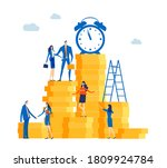 time is money. group of...   Shutterstock .eps vector #1809924784