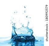 water splash and bubbles.... | Shutterstock . vector #180992579