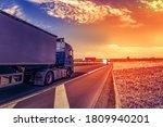 Motion Blurred Trucks On...
