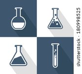 chemical tubes icons set. flat... | Shutterstock .eps vector #180998525