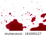 murder. red blood on white... | Shutterstock . vector #181000127