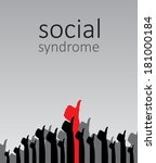 social syndrome  illustration | Shutterstock . vector #181000184