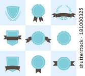 set of badges  shields and... | Shutterstock .eps vector #181000325