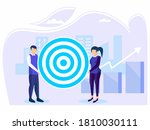 target selection achieved....   Shutterstock .eps vector #1810030111