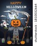 halloween grimp pumpkins poster ...   Shutterstock .eps vector #1810032664