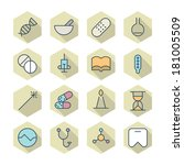 thin line icons for medical....