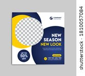 fashion  social media banner ... | Shutterstock .eps vector #1810057084