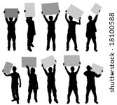 people holding sign   Shutterstock .eps vector #18100588
