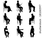 sitting people | Shutterstock .eps vector #18100597
