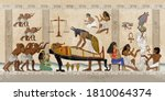 ancient egypt. mummification... | Shutterstock .eps vector #1810064374