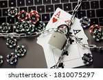 Stop Online Casino Concept Wit...