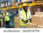 Black Male Warehouse Worker...
