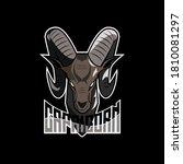 symbol of capricorn mascot...   Shutterstock .eps vector #1810081297