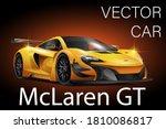 Vector Yellow Race Sport Car....