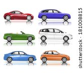 collection of 3d cars vector | Shutterstock .eps vector #181008815