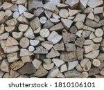 stacks of woodpile firewood... | Shutterstock . vector #1810106101