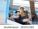 los angeles   mar 8   kelly... | Shutterstock . vector #181011581