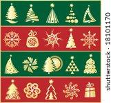 design gold christmas elements   Shutterstock .eps vector #18101170
