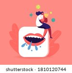 ill female character with wipe...   Shutterstock .eps vector #1810120744