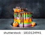 Halloween Cake Of Chocolate An...