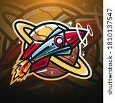 Rocket Esport Mascot Logo Design