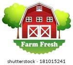 illustration of a barnhouse... | Shutterstock .eps vector #181015241