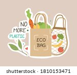 ecology colorful sticker....   Shutterstock .eps vector #1810153471