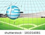 illustration of a ball hitting...   Shutterstock .eps vector #181016081