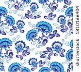 blue floral ornament. based on...   Shutterstock .eps vector #1810166404