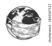 earth globe in medical... | Shutterstock .eps vector #1810167127