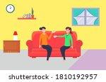 friendship vector concept  two... | Shutterstock .eps vector #1810192957