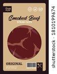vector smoked beef packaging...   Shutterstock .eps vector #1810199674