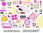 memphis design pattern and... | Shutterstock . vector #1810228837