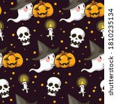 seamless pattern halloween... | Shutterstock .eps vector #1810235134