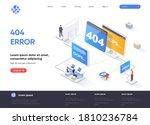 404 error isometric landing... | Shutterstock .eps vector #1810236784