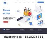 focus group isometric landing... | Shutterstock .eps vector #1810236811