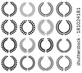 vector collection  laurel... | Shutterstock .eps vector #181024181