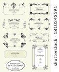 calligraphic elements and frame ... | Shutterstock . vector #1810243591