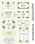 calligraphic elements and frame ... | Shutterstock .eps vector #1810243594