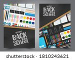 welcome back to school flyer... | Shutterstock .eps vector #1810243621