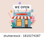 we are open. vector...   Shutterstock .eps vector #1810274287