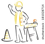 under construction | Shutterstock .eps vector #181028714