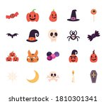 halloween free form style... | Shutterstock .eps vector #1810301341